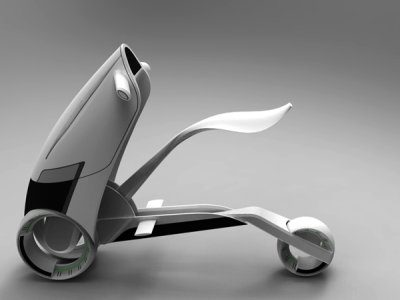 Image 1 : Fuse, un scooter conceptuel urbain et high tech