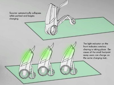 Image 2 : Fuse, un scooter conceptuel urbain et high tech