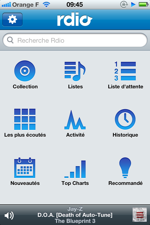 Image 1 : Rdio : le service de streaming musical disponible en France