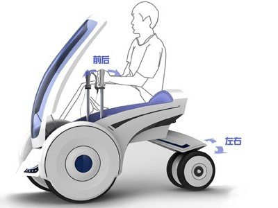Image 2 : Folding Electric Vehicle, à mi-chemin entre un quad et un Segway