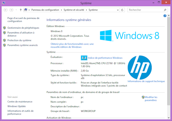 Image 2 : [Test] HP Envy X2 : portable et tablette sous Windows 8
