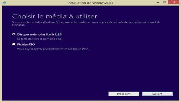 Image 5 : Comment télécharger l'ISO de Windows 8.1 et l'installer sur clé USB