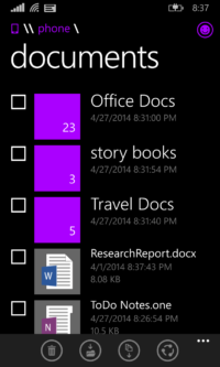 Image 2 : Windows Phone 8.1 : l'explorateur de fichiers arrive