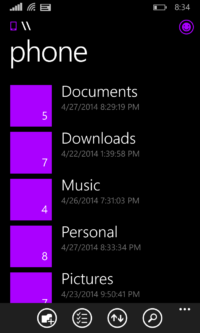 Image 3 : Windows Phone 8.1 : l'explorateur de fichiers arrive