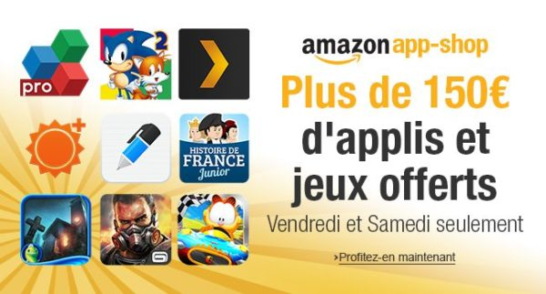 Image 1 : Pendant 48 heures, Amazon offre 150 euros d'applications Android