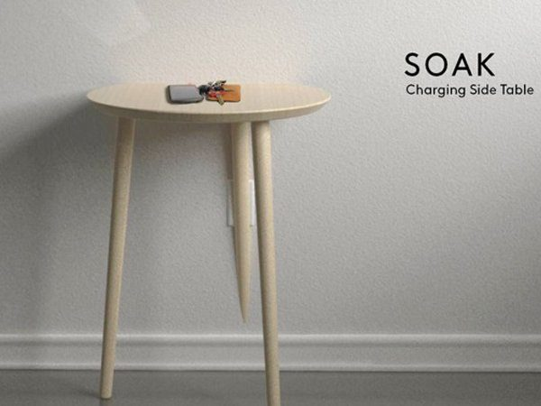 Image 1 : Soak : la table basse qui recharge par induction