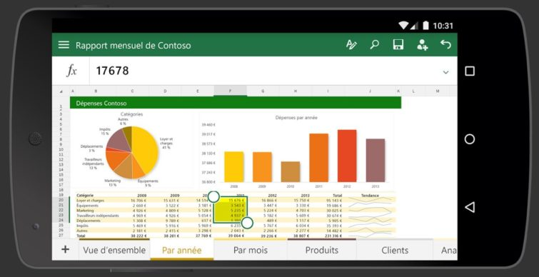 Image 2 : La suite Office débarque sur smartphone Android en version finale