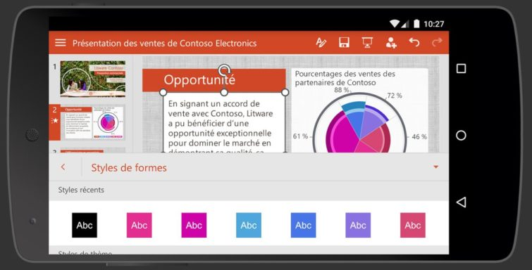Image 1 : La suite Office débarque sur smartphone Android en version finale