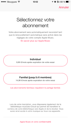 Image 2 : Apple Music : comment l'installer et le configurer