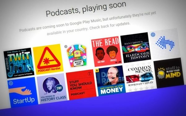 Image 1 : Android : les podcasts arrivent dans Google Play Music