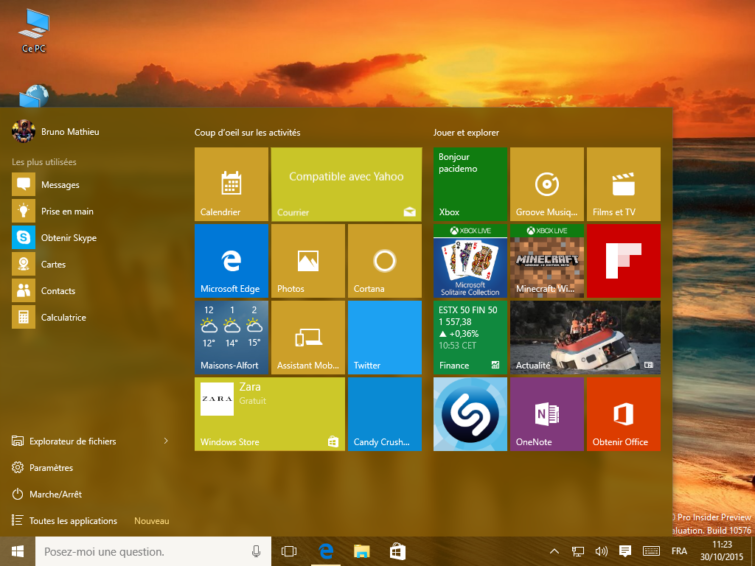 Image 1 : Windows 10 Cloud : ça a le goût et l'odeur de Windows RT, mais pas que...