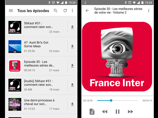 Image 17 : Podcasts : les meilleures applications pour Android