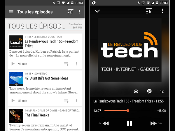Image 13 : Podcasts : les meilleures applications pour Android