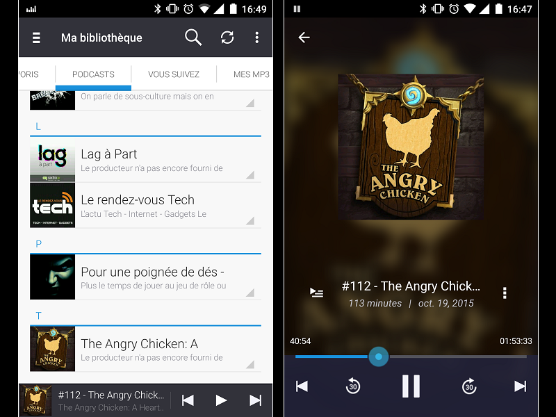Image 2 : Podcasts : les meilleures applications pour Android