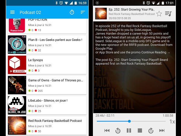 Image 7 : Podcasts : les meilleures applications pour Android
