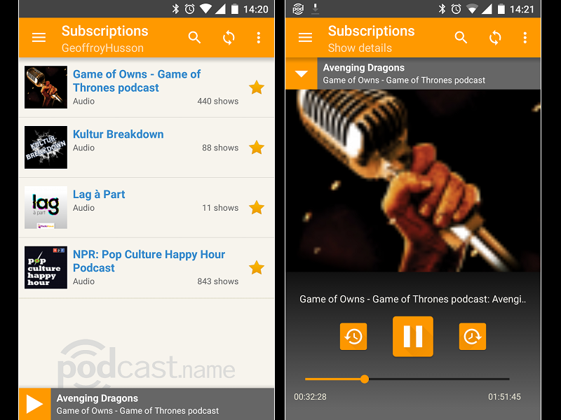 Image 3 : Podcasts : les meilleures applications pour Android