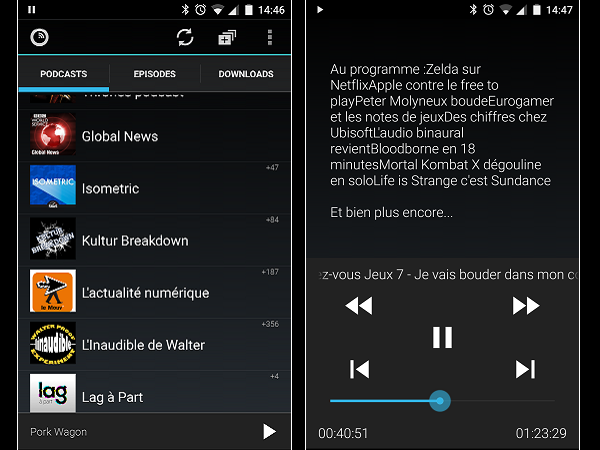 Image 14 : Podcasts : les meilleures applications pour Android