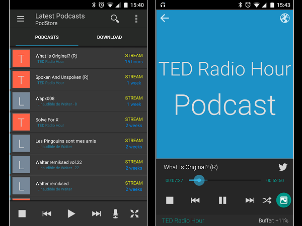 Image 9 : Podcasts : les meilleures applications pour Android