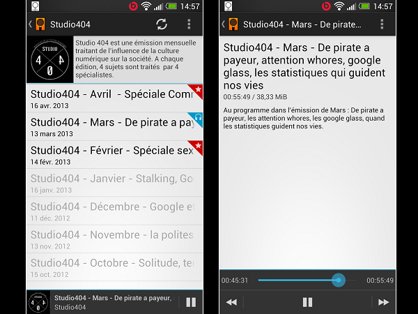 Image 16 : Podcasts : les meilleures applications pour Android