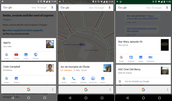 Image 1 : Android 6 : Now on Tap enfin disponible en France