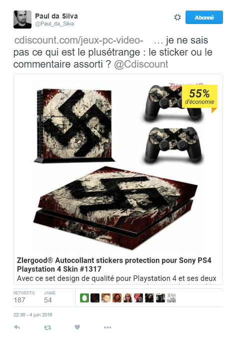Image 2 : Table Sodomie et autocollants en croix gammée, le weekend infernal de Cdiscount