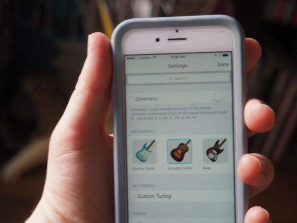 Image 2 : Tune, l'application de Fender pour accorder sa guitare