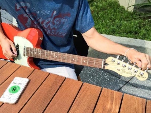 Image 1 : Tune, l'application de Fender pour accorder sa guitare