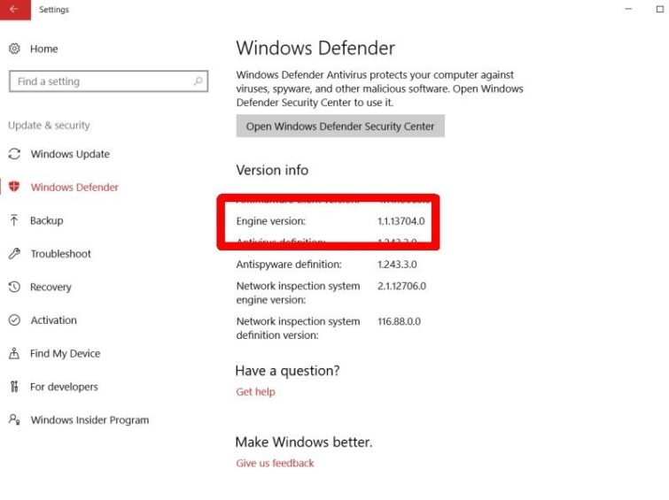 Image 2 : Microsoft a réparé une importante faille dans Windows Defender