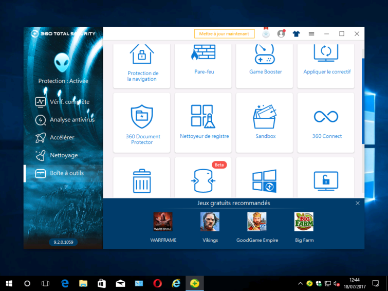 Image 4 : [Test] 360 Total Security : Une suite pleine d'extensions