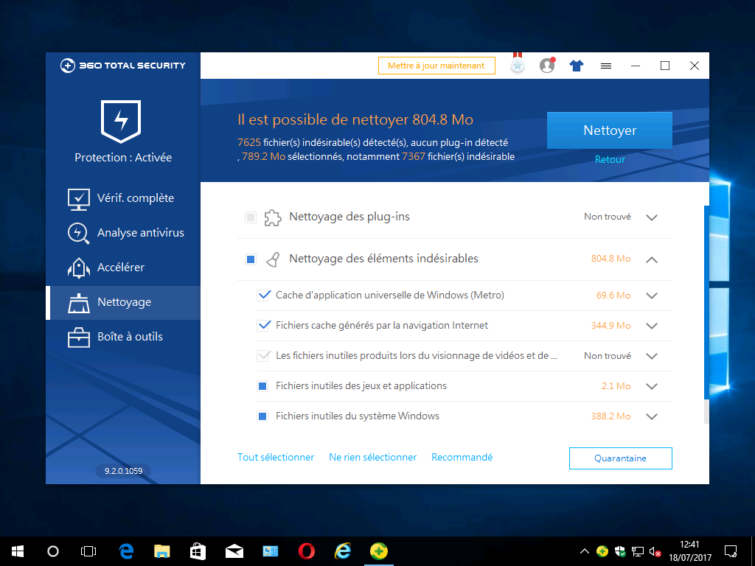 Image 6 : [Test] 360 Total Security : Une suite pleine d'extensions