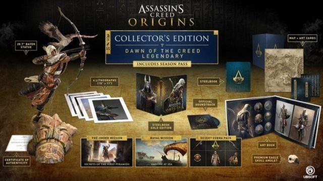 Image 1 : L'édition collector d'Assassin's Creed Origins coûtera juste 800 euros