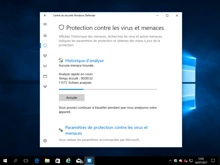 Image 5 : [Test] Windows Defender : que vaut l'antivirus intégré à Windows 10 ?