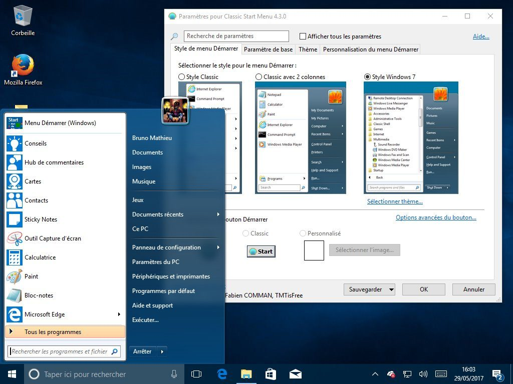 Image 3 : Windows 10 : comment lui redonner le look et les fonctions de Windows 7 ?