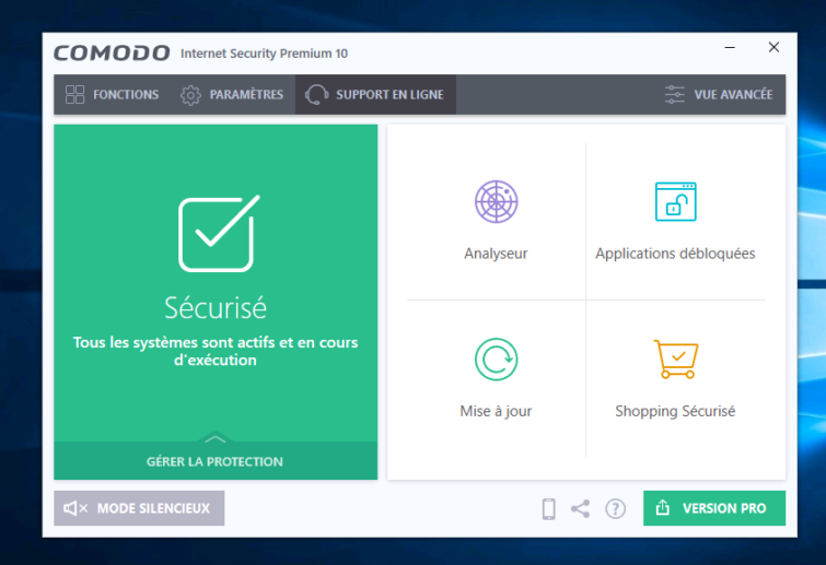 Image 6 : [Test] Comodo Free Internet Security 10 : la suite des Geeks
