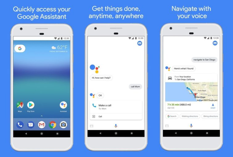 Image 1 : Une application Google Assistant en guise de raccourci disponible sur le Play Store