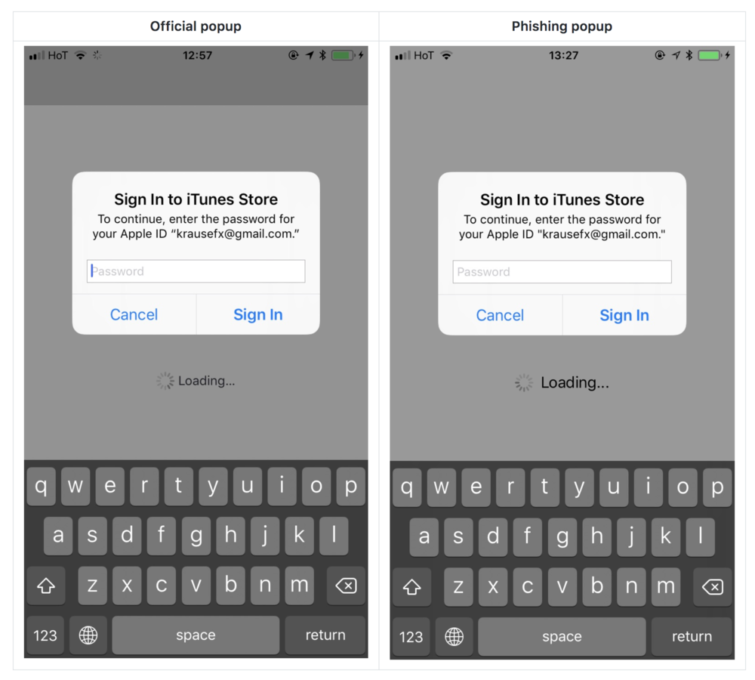 Image 1 : iPhone/iPad : attention aux pop-up iOS ?