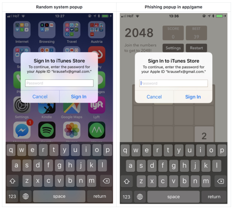 Image 2 : iPhone/iPad : attention aux pop-up iOS ?