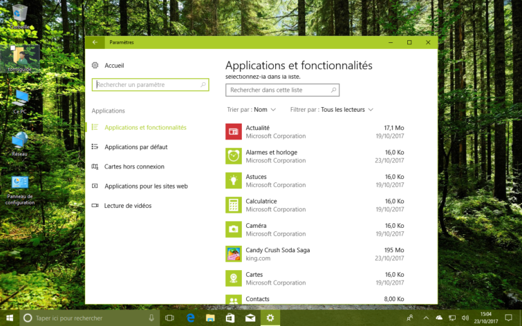 Image 1 : Windows 10 Fall Creators Update : comment corriger le bug des applications manquantes