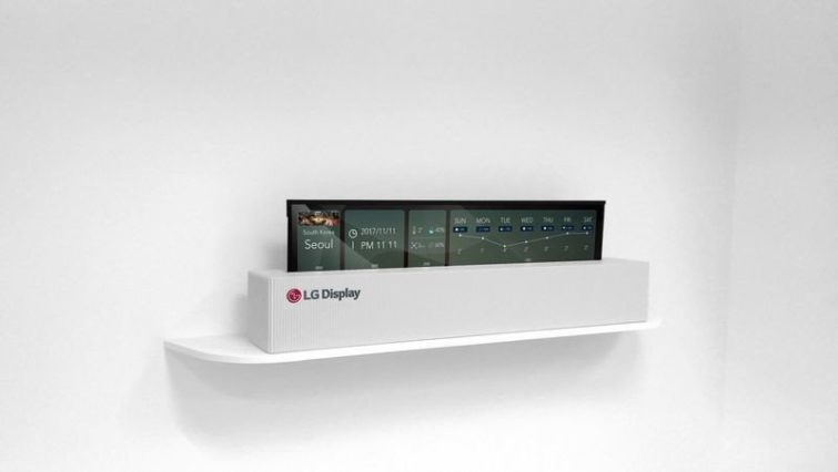 Image 1 : [CES 2018] LG expose une TV 4K Oled enroulable