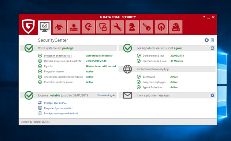 Image 3 : G Data Total Security 2018 : on a testé la nouvelle version de l'antivirus