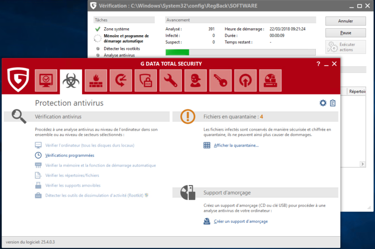 Image 5 : G Data Total Security 2018 : on a testé la nouvelle version de l'antivirus
