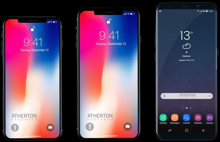 Image 1 : iPhone X Plus : la taille du 8 Plus, iOS 12 et FaceID horizontal