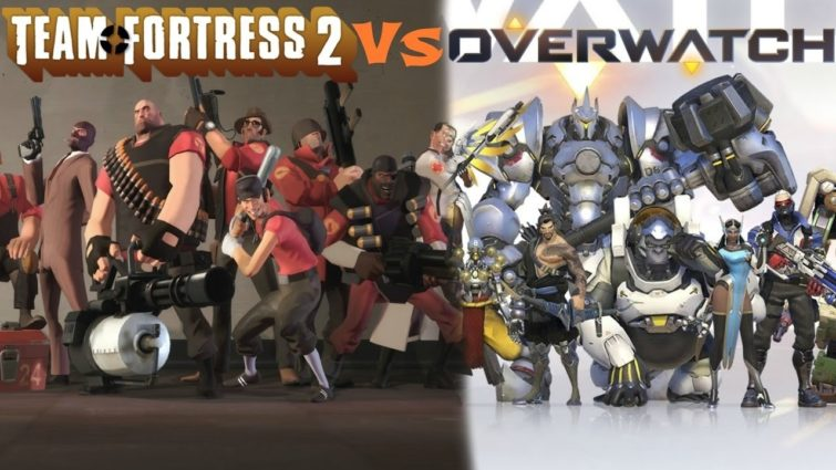 Image 1 : Overwatch vs Team Fortress 2 : le match en video