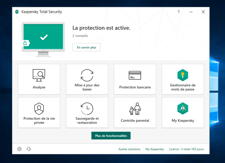Image 3 : Kaspersky Total Security : on a testé la version 2019 de l'antivirus