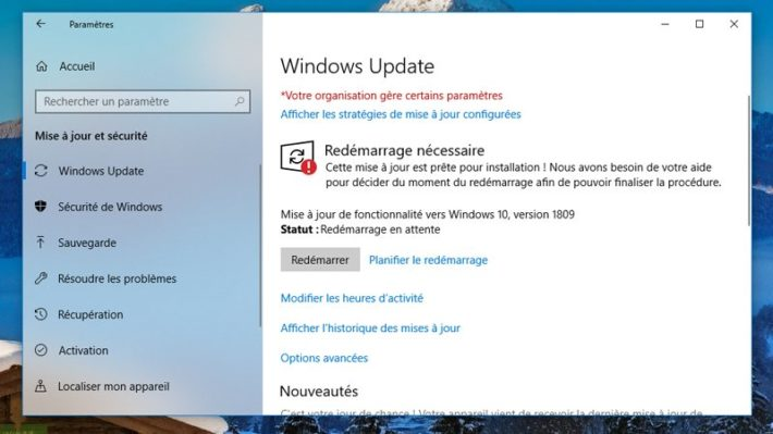 Image 4 : Windows 10 : comment télécharger la grosse mise à jour d'octobre 2018 ?