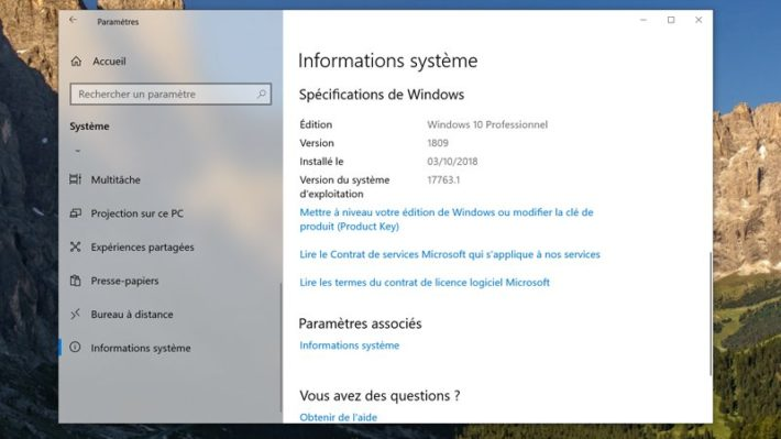 Image 5 : Windows 10 : comment télécharger la grosse mise à jour d'octobre 2018 ?