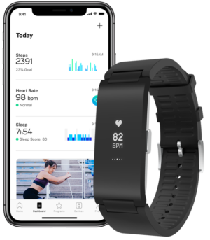 Image 2 : Withings concurrence Fitbit avec son bracelet Pulse HR