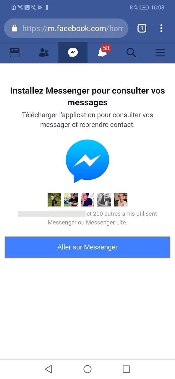 Image 2 : Comment me connecter à Facebook Messenger sans l'installer ?