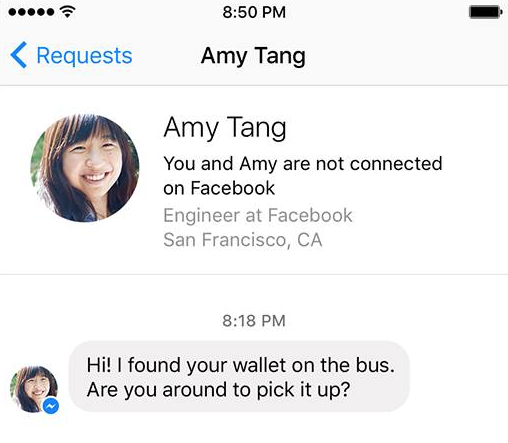 Image 3: Facebook Messenger: Chat with someone without being his friend