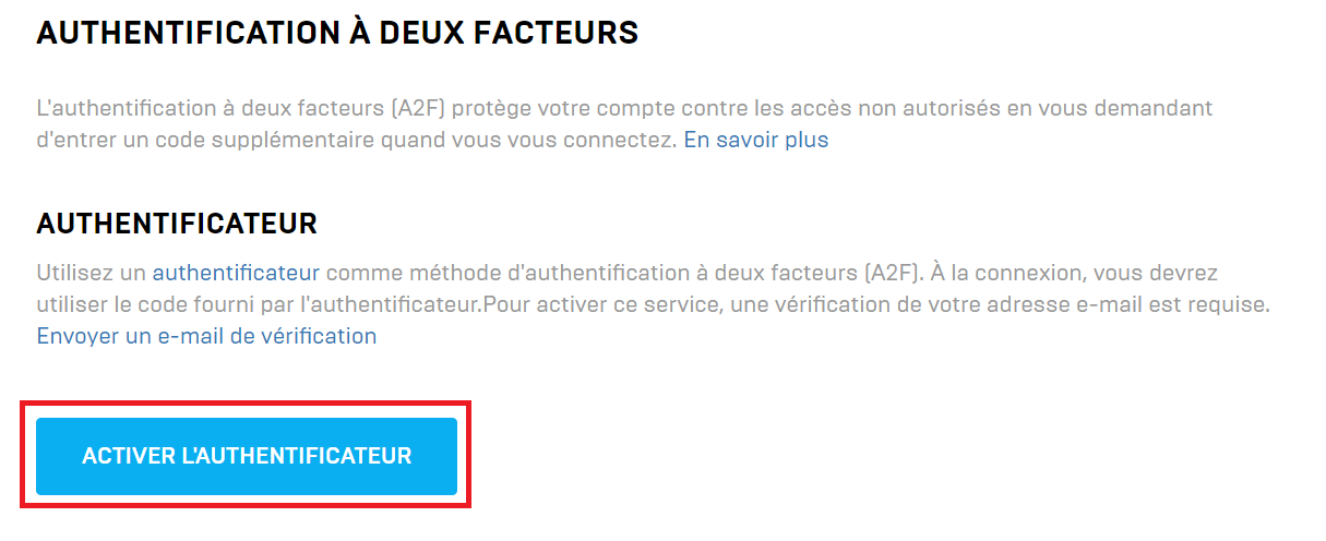 activer authentificateur fortnite